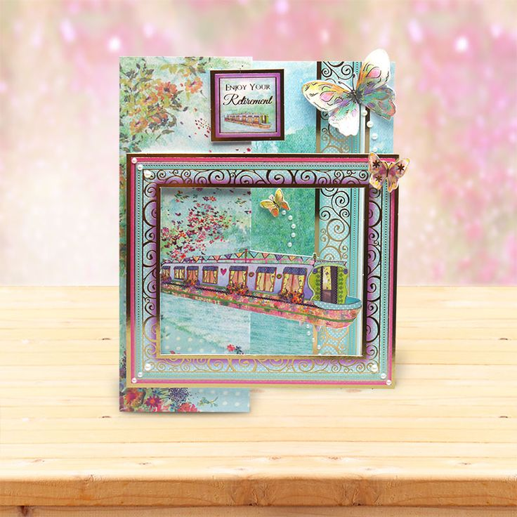 This card was made using the 'Butterfly Boat' topper set from the Shimmering Pearl Collection by Hunkydory Crafts http://www.hunkydorycrafts.co.uk/papercraft/hunkydory-collections/shimmering-pearl.html