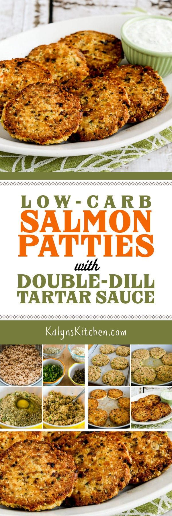 Low-Carb Salmon Patties with Double-Dill Tartar Sauce (Video)