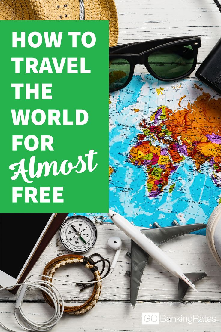 It's actually possible to travel the world for (almost) FREE! Click through to learn how...