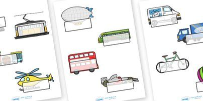 Twinkl Resources >> Editable Self Registration Labels (Transport)  >> Classroom printables for Pre-School, Kindergarten, Primary School and beyond! Self registration, register, transport, editable, labels, registration, child name label, printable labels, car, van,