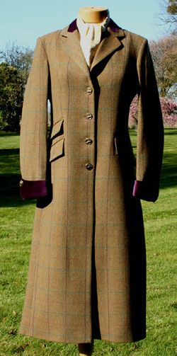 womens tweed long coat in eden tweed tailoring tweed