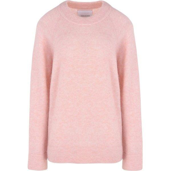 Samsøe Φ Samsøe Jumper (1 290 SEK) ❤ liked on Polyvore featuring tops, sweaters, pink, pink long sleeve top, extra long sleeve sweater, pink sweater, long sleeve tops and pink top