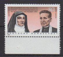 BRD / Seligsprechung von Edith Stein und Pater Rupert Mayer durch Papst Johannes Paul II. / MiNr. 1352  | Zu verkaufen auf Delcampe