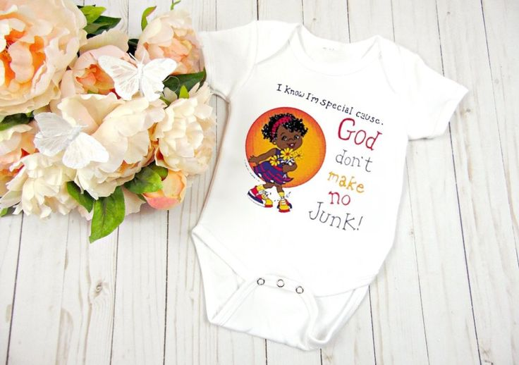 God Don't Make No Junk Baby Clothes, Baby Shower Gift, Birthday Gift                      – Personalized Baby Clothing