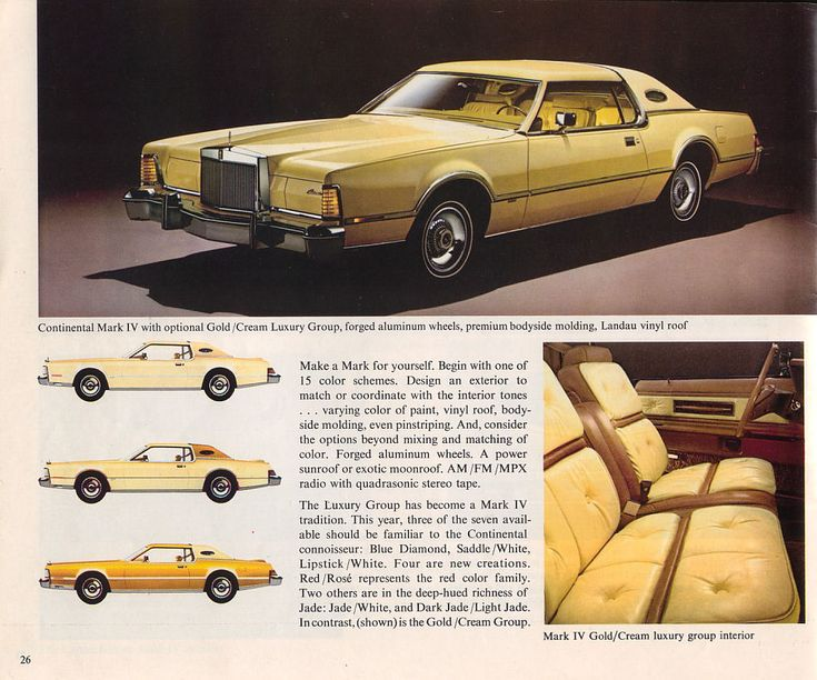 1976 lincoln continental mark iv with optional goldcream luxury group