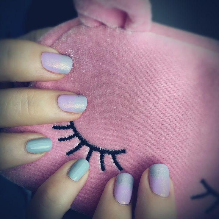 Pink&Purple ombre, mermaid nails, matt