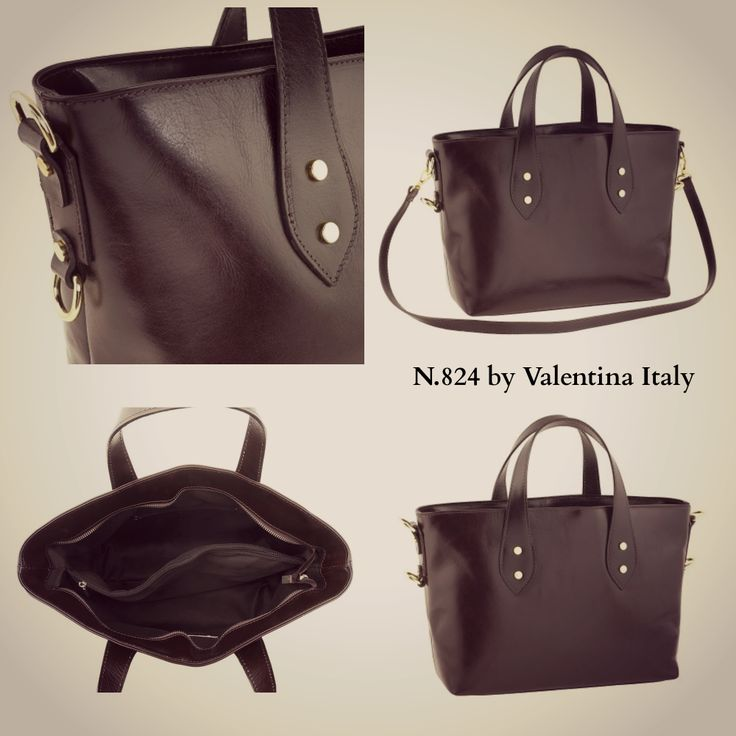 N° 824 by Valentina Italy is an elegant #leather #shopper #bag with handles and removable shoulder strap for increased functionality. Now on Tuscan Leather District -30% off www.tuscanleatherdistrict.it