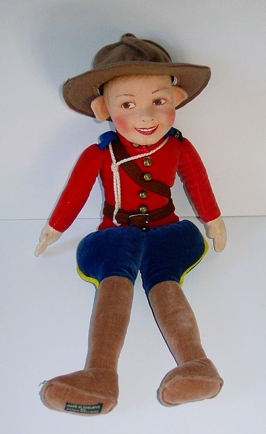 Lareg 14 Norah Wellings - Made in England - CANADIAN MOUNTIE from kathescollectibles on Ruby Lane