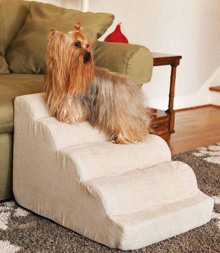 Pet ramps are necessary when you have small and medium sized dogs so they can easily reach the places they like to be - next to you on the couch or bed. Scalloped pet ramps add a decorative touch to y