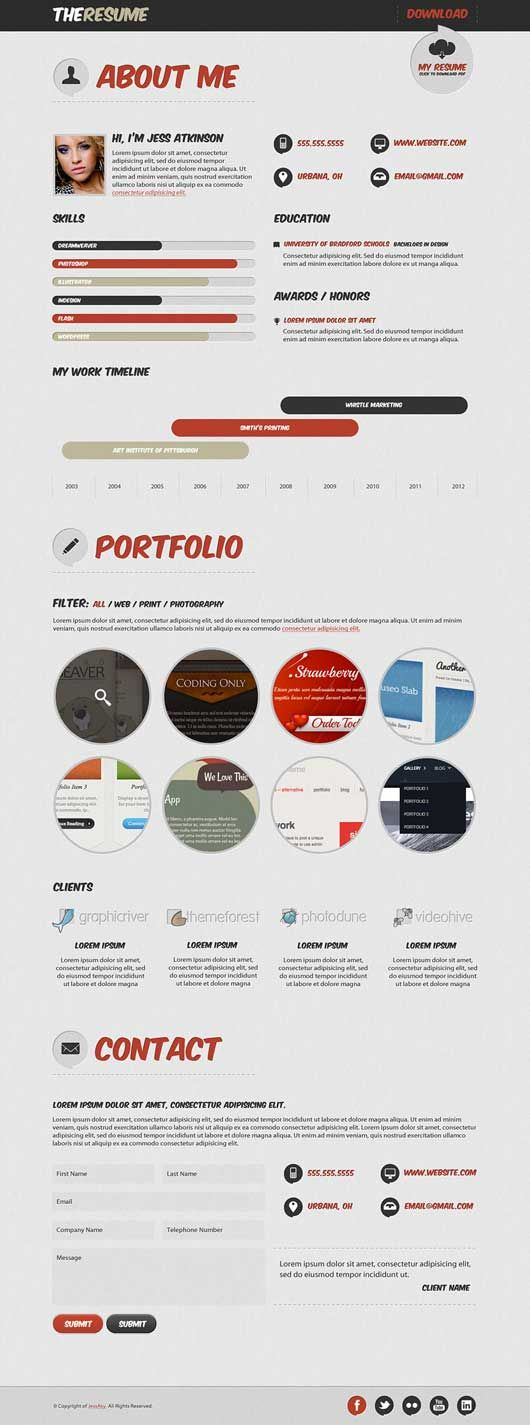 1000+ images about Online Resume on Pinterest - online resume portfolio