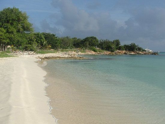 Eastern end Rendevous Bay, Anguilla.  I hope to be snorkeling around those rocks.