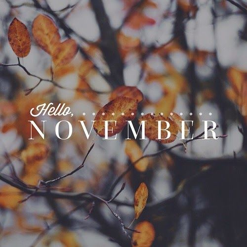 Isabel Drafts: Autumn. hello November