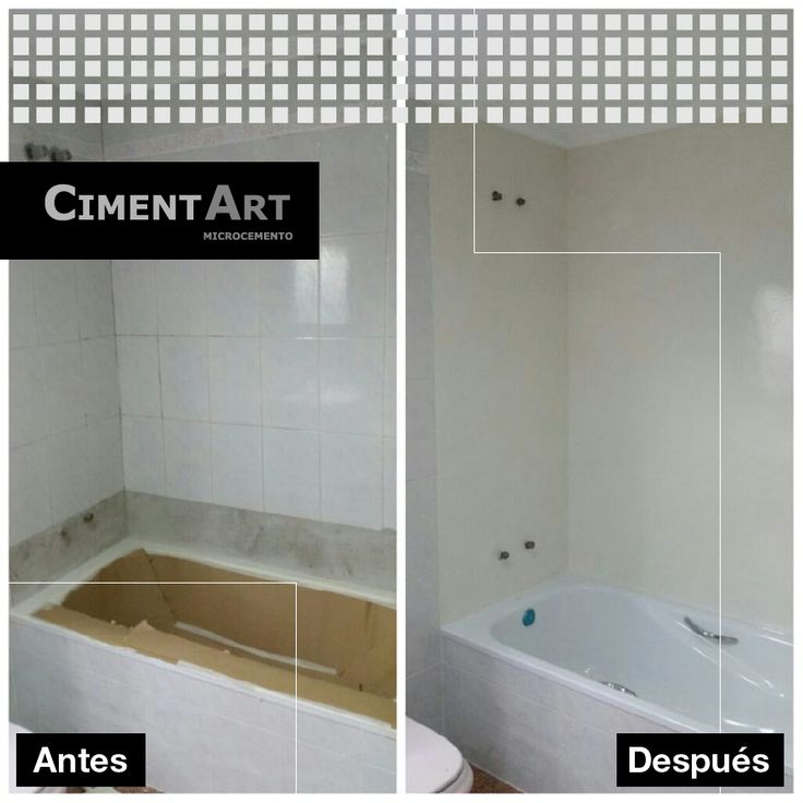 8 best antes y despu s images on pinterest flooring - Banos de microcemento ...