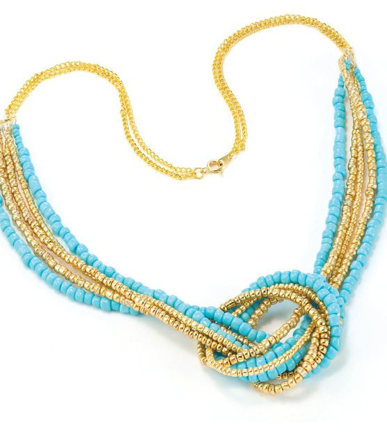 #DIY Beaded Knot Necklace from Joann.com