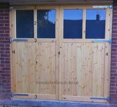 Image result for side hung garage doors with windows