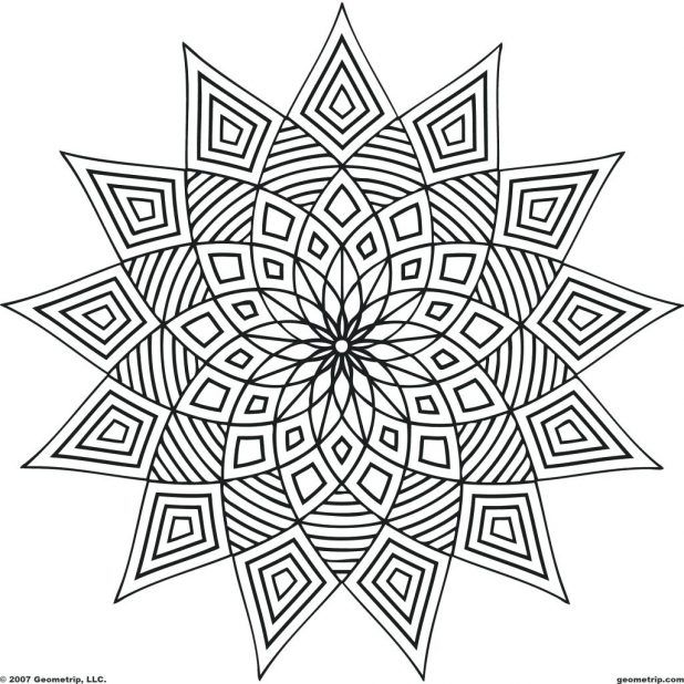 Free Optical Illusion Coloring Pages Printable Animals Pdf Abstract Coloring Pages Geometric Coloring Pages Pattern Coloring Pages