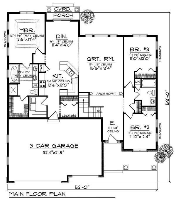 House Design 101: Home Plan : # 101-1657 3 Bed 2 Bath 3 Car 1867 Sq Ft
