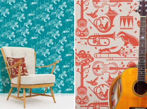 wallpaper by Mini Moderns...could be a fun back drop.