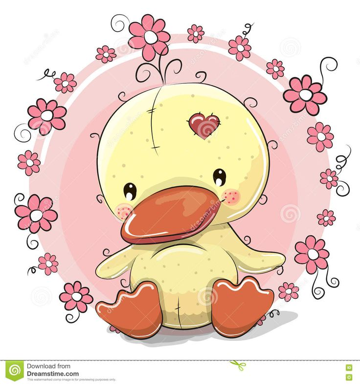 Duck With Flowers - Download From Over 61 Million High Quality Stock Photos, Images, Vectors. Sign up for FREE today. Image: 75144872