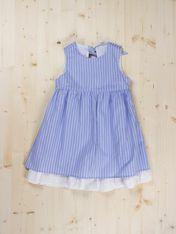 Blue Stripes Dress -  Dots & Knots