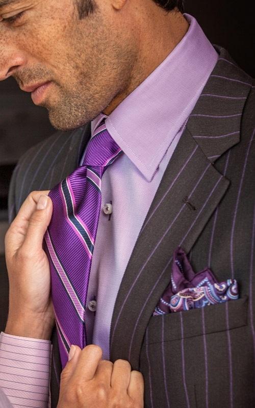 Robert Talbott Monterey Lavender Diagonal Dress Shirt and gorgeous tie.