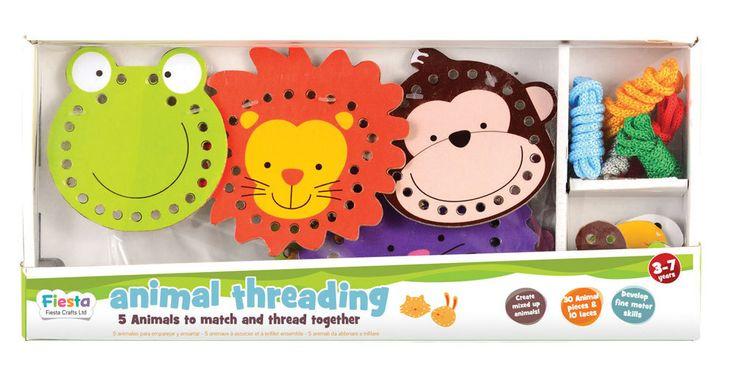 Fiesta Crafts Animal Threading Toy
