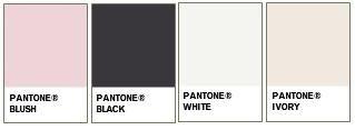 Inspiration: Black White and Blush :  wedding black inspiration pink Colors BlushBlackWhiteIvory