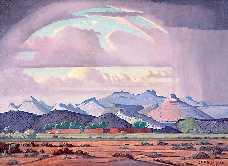 South African artist, Jacobus Hendrik Pierneef  Captured by Clive Hassall Photography, producers of fine art capture and advanced colour management in South Africa. www.clivehassall.com