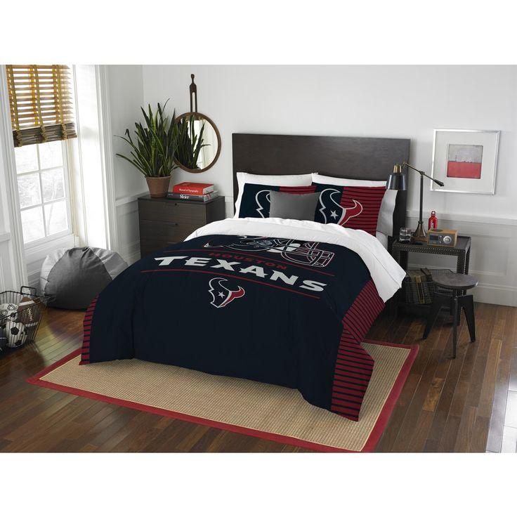 The Northwest Company NFL 849 Texans Draft /Queen 3-piece Comforter Set