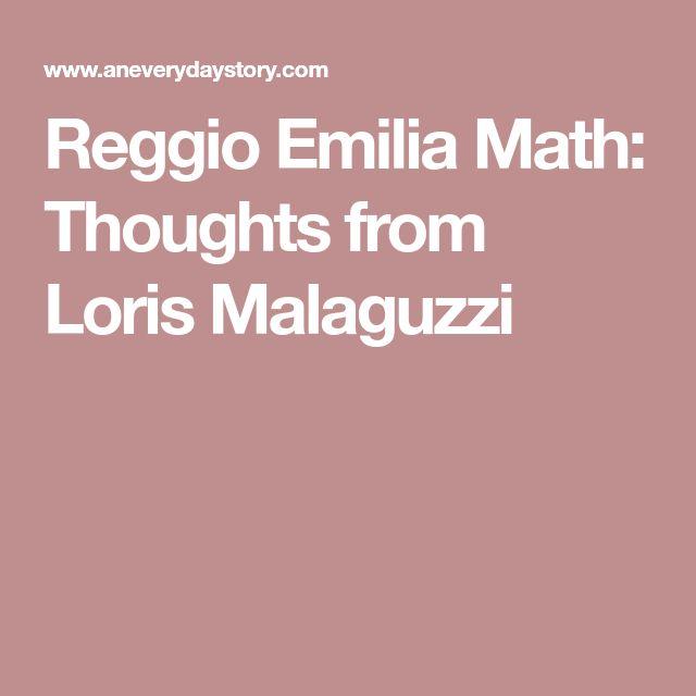 Reggio Emilia Math: Thoughts from Loris Malaguzzi