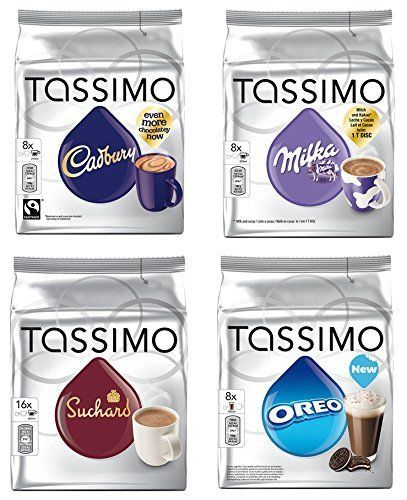 Tassimo Hot Chocolate Mega Pack - Cadbury, Oreo, Milka, Suchard Pods Discs - 40