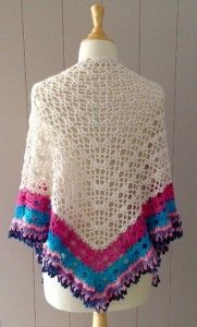 Free crochet pattern: It's a Sunny Day Shawl on Vicarno