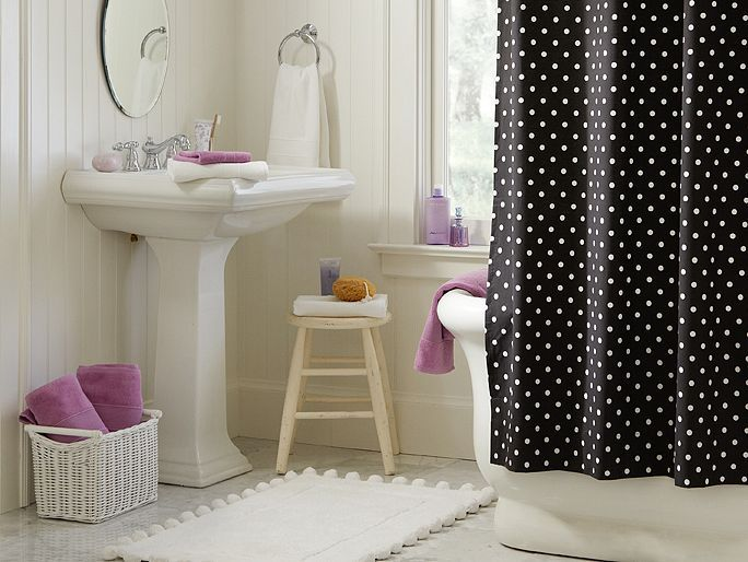 I Love The PBteen Black Dottie Bathroom On Pbteen.com