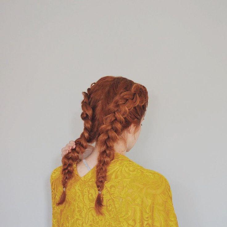 dutch braid / hair ideas / double dutch braid / redhead