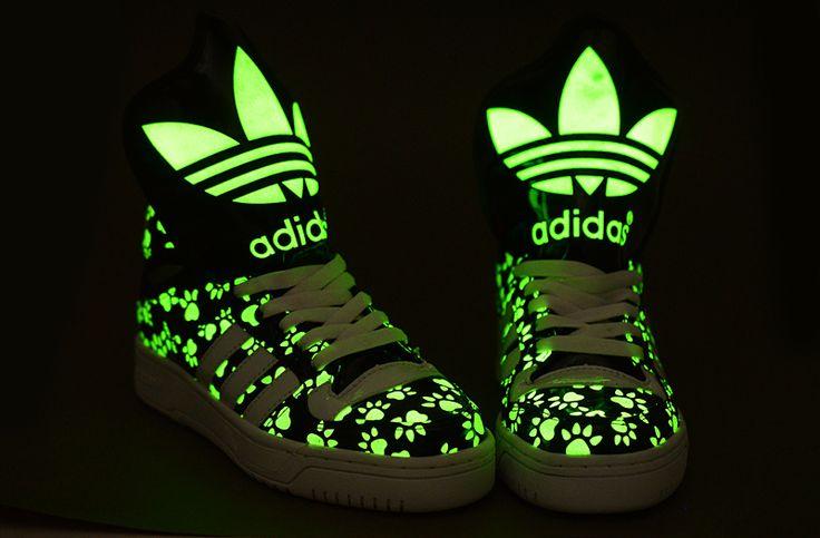 Adidas Big Tongue Bears Paw Print Glow In The Dark High -2188