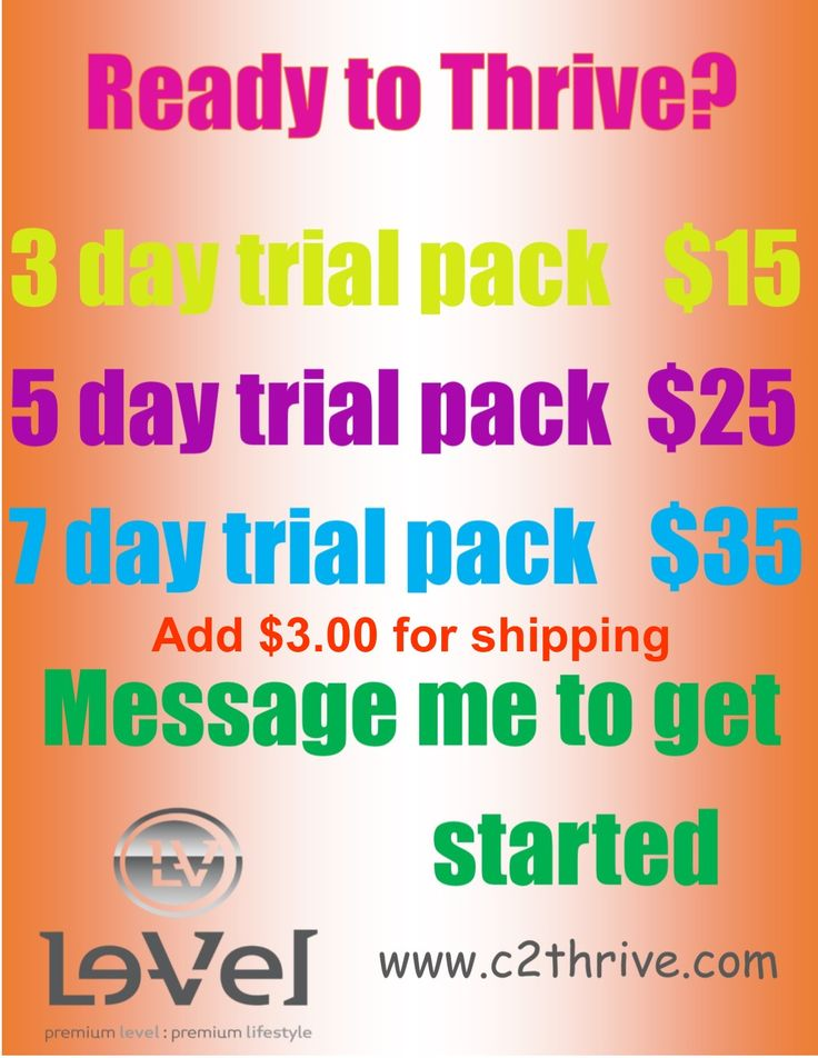 Trial pack includes Thrive Premium Capsule (Men's or Women's), Thrive Premium…