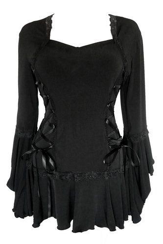 RENAISSANCE Gothic Victorian Peasant BOLERO Corset Top BLACK Size 12-14 1XL