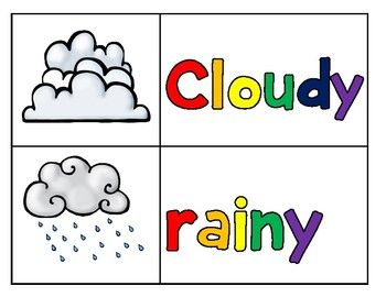 This is a visual aide to help learn weather words. This product goes with Dr. Jean's Weather Song that spells out the weather words.