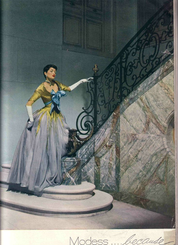 1950 Maxime de la Falaise in a Modess ad, Photo by Cecil Beaton - the queen of her castle.