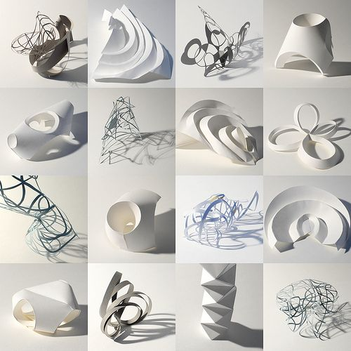 Paper Sculpture Workshop by Richard Sweeney Richard creates sculptures in paper inspired by the organic forms and structures of nature. His studio is in Wakefield, England