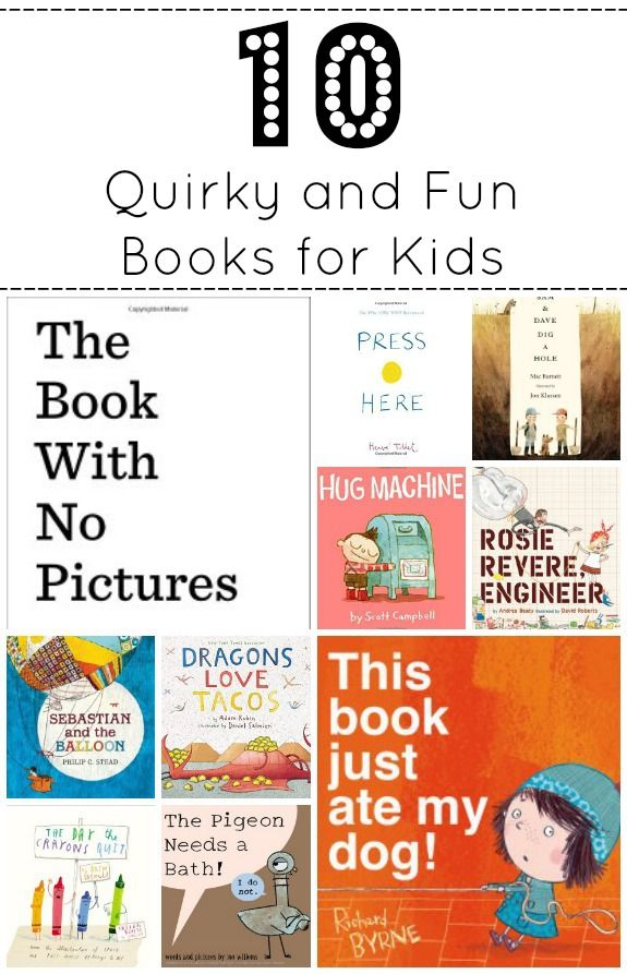10 Quirky Books for Kids -- These quirky books for kids (or the kid-in-you) are great for those who love a little whimsy and a bit of the unexpected! Great to read aloud!