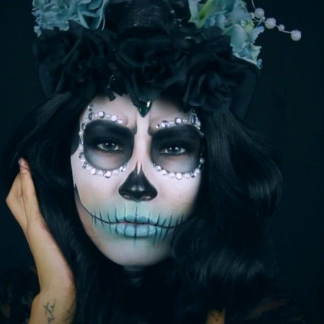 137 best Day of the Dead make up images on Pinterest | Sugar skull ...