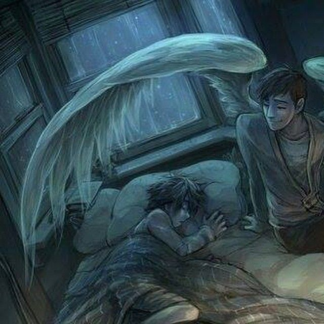 Oh...this makes me sad....Tadashi as an angel, looking after his brother.