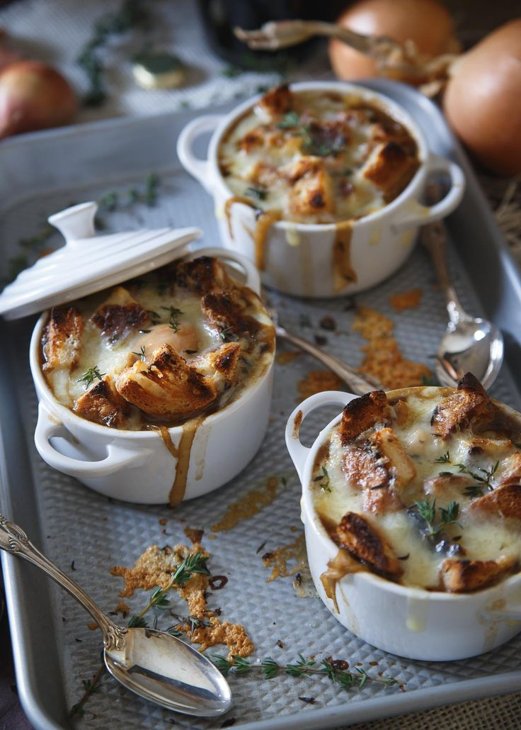 This gluten free Irish stout onion soup is made with buttery toasted rye croutons and topped with Irish cheddar.