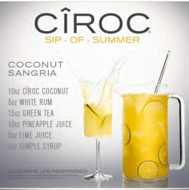 Ciroc coconut sangria