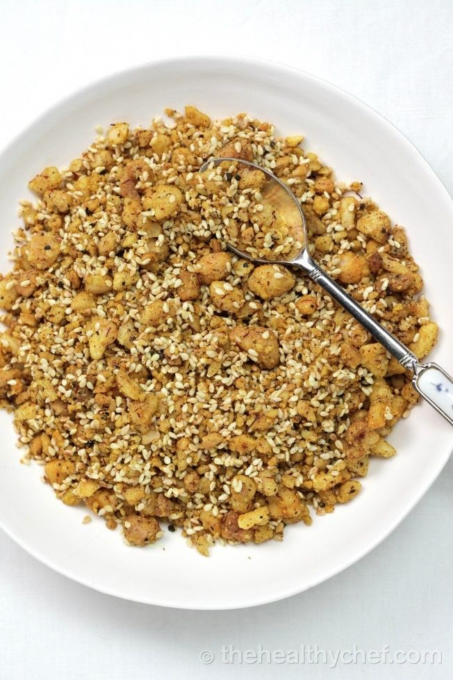 Dukkah - Egyptian Spice Mix - recipe by Teresa Cutter.  Nice over a salad, scrambled eggs or even feta  :)