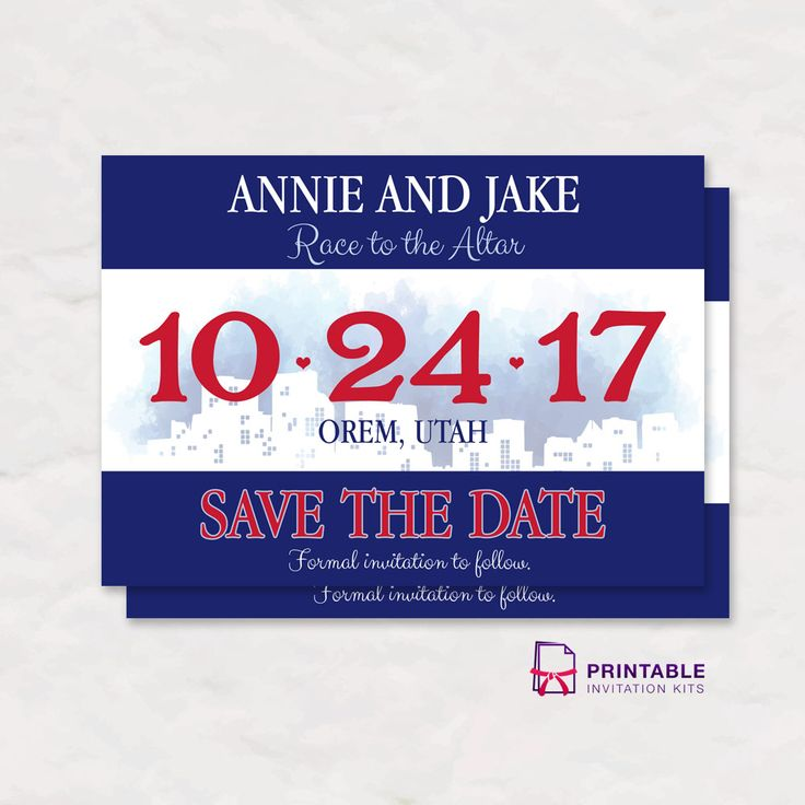 free pdf race bib save the date invitation with editable