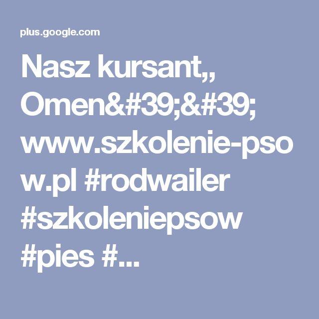 Nasz kursant,, Omen'' www.szkolenie-psow.pl #rodwailer #szkoleniepsow #pies #...