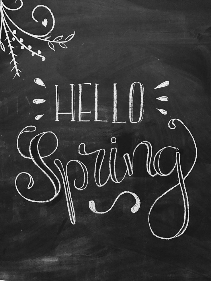 Hello Spring - lettering - easter - spring - spring art - chalkboard - chalkart -chalk lettering - typo - typography - chalk typography