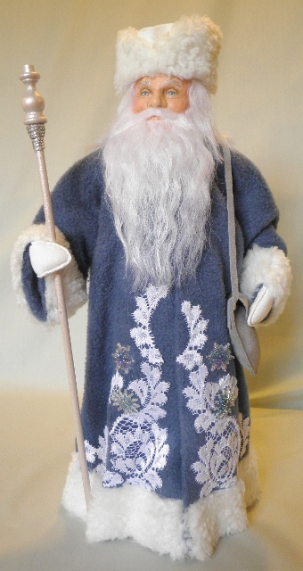 1917 Soviet Ded Moroz (Father Frost) - he is usually associated with Snegurlochka (the Snow Maiden).